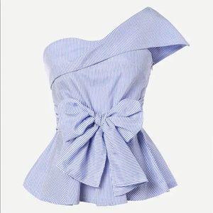 SheIn one shoulder blouse